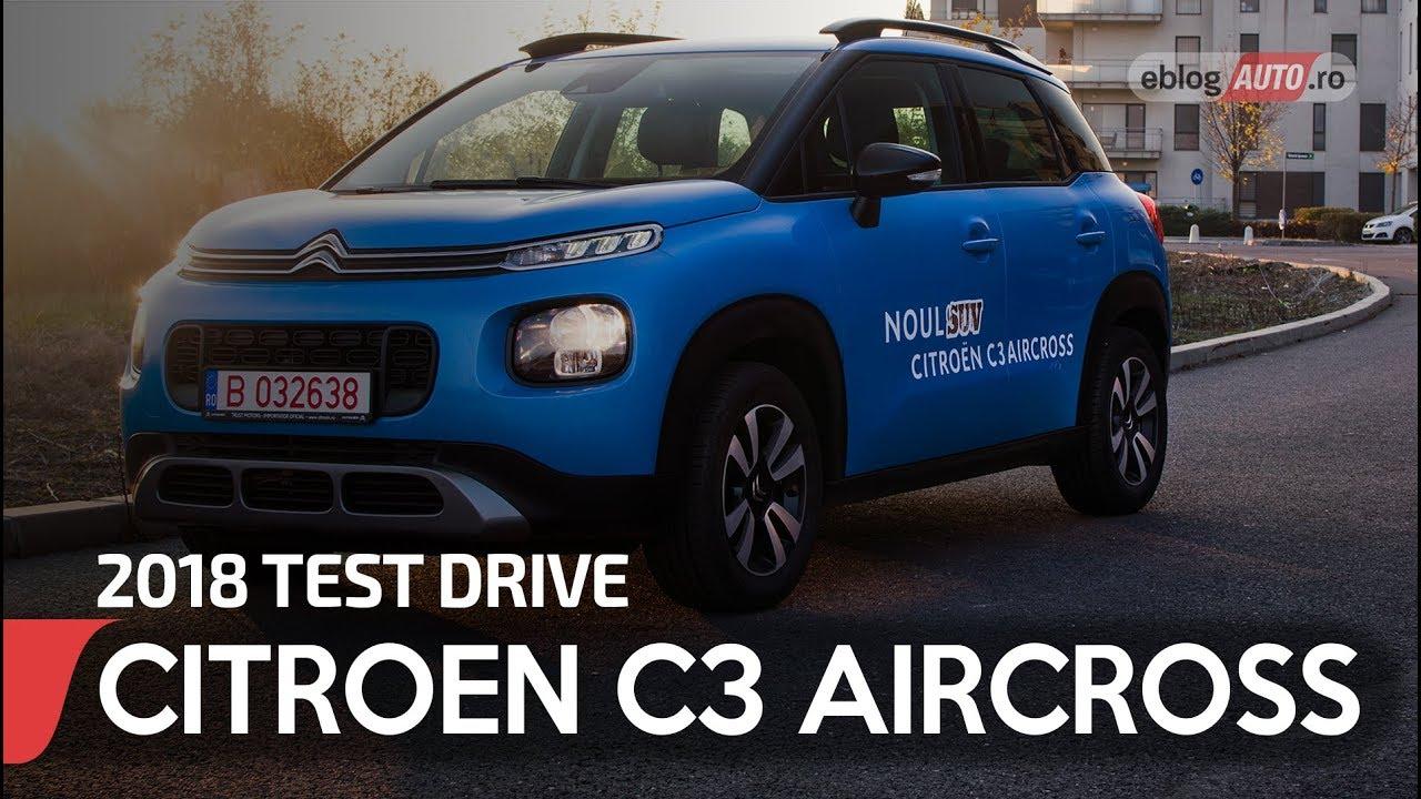 2018 citroen c3 aircross feel 1 6 blue hdi mt test drive eblogauto youtube. Black Bedroom Furniture Sets. Home Design Ideas