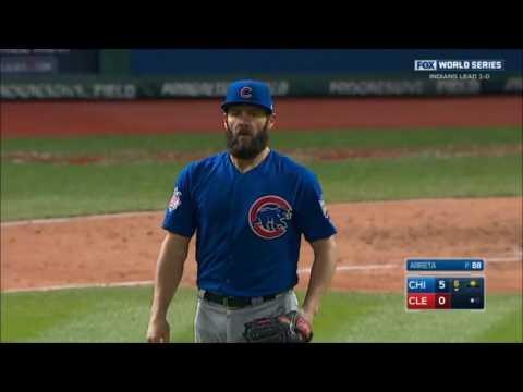 Cubs World Series Game 2 Best Highlights - Jake Arrieta's AMAZING Start