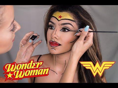BEST HALLOWEEN COMIC INSPIRED WONDER-WOMAN TUTORIAL! POP-ART   2017