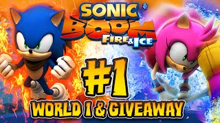 Sonic Boom Fire Ice 3DS 1080p Part 1 World 1 COMPLETE Kodiak Frontier GIVEAWAY