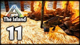 BABY SARCO! DREAM TEAM! BASE SCOUTING! | Let's Play ARK Survival Evolved: The Island | Episode 11
