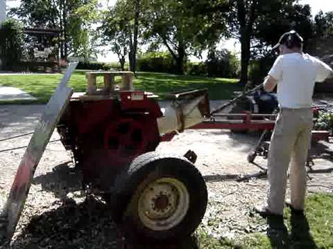 Homemade wood chipper - YouTube