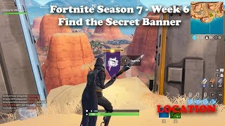 "Fortnite Staffel 7 - Woche 6 ""Find the Secret Banner"" Location"