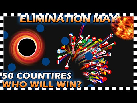 Marble Race Elimination - Top 50 Countries By Watch Time For May 2020 - Algodoo