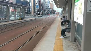 福井鉄道F1000形急行列車@福井城址大名町駅
