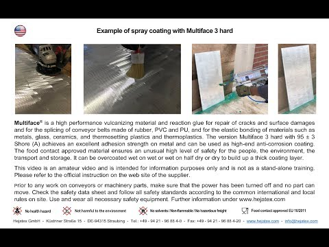 Example Of Spray Coating With Multiface 3 Hard