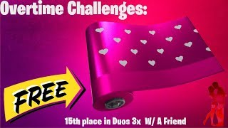 Fortnite: How To Get Valentines Wrap - Overtime Challenges!!! - Easy & Fast
