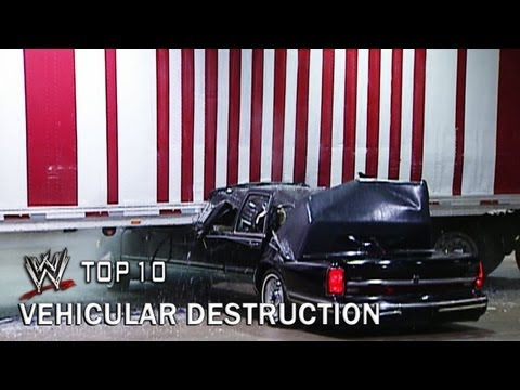 Vehicular Destruction - WWE Top 10