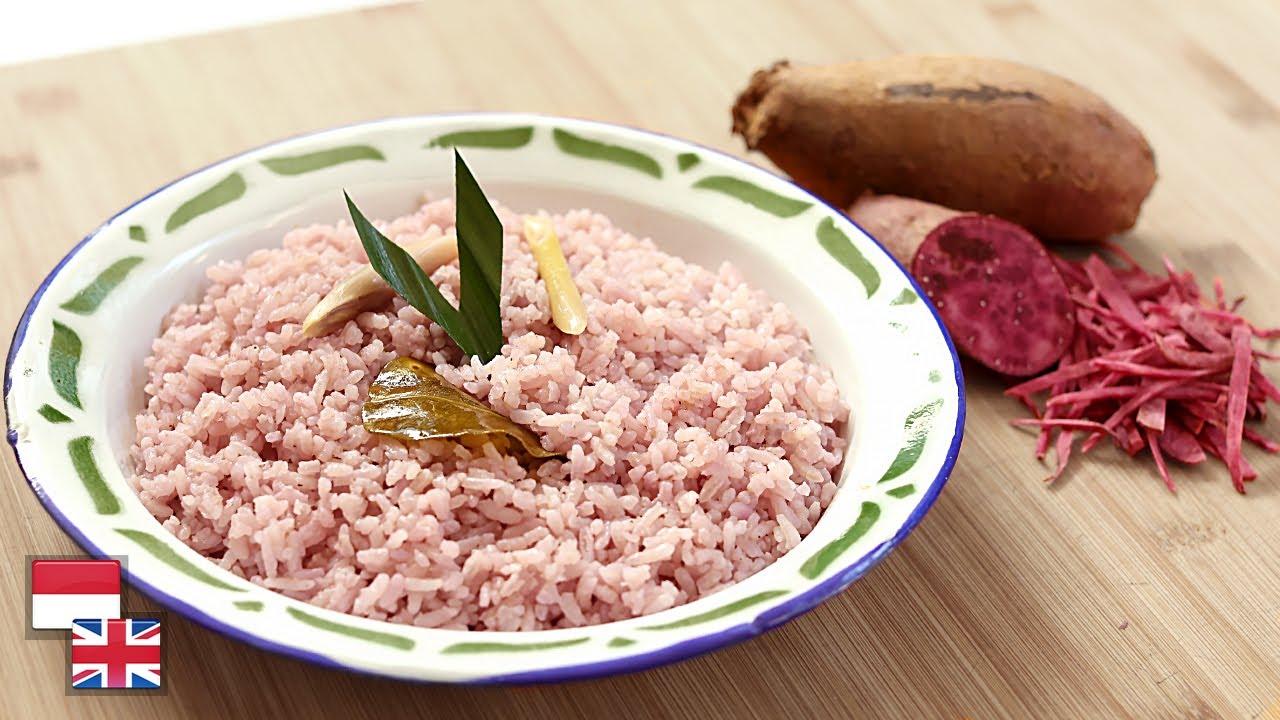 Anti Benyek! Resep NASI GURIH UBI UNGU: Pulen, Wangi, Praktis Pakai Rice Cooker.