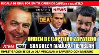 La DEA ordenara captura a Zapatero por Maduro Sanchez tiembla