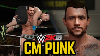 WWE 2K16: CM PUNK!!