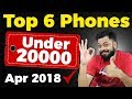 TOP 6 BEST MOBILE PHONES UNDER  ₹20000 (Apr 2018)
