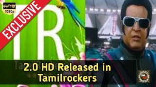 2.0 HD Released in Tamilrockers