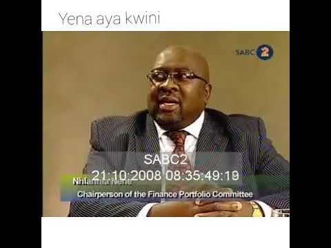 Boti July MaJulie - yena aya kwini (Minister Nhlanhla Nene falls from a chair during LIVE interview)