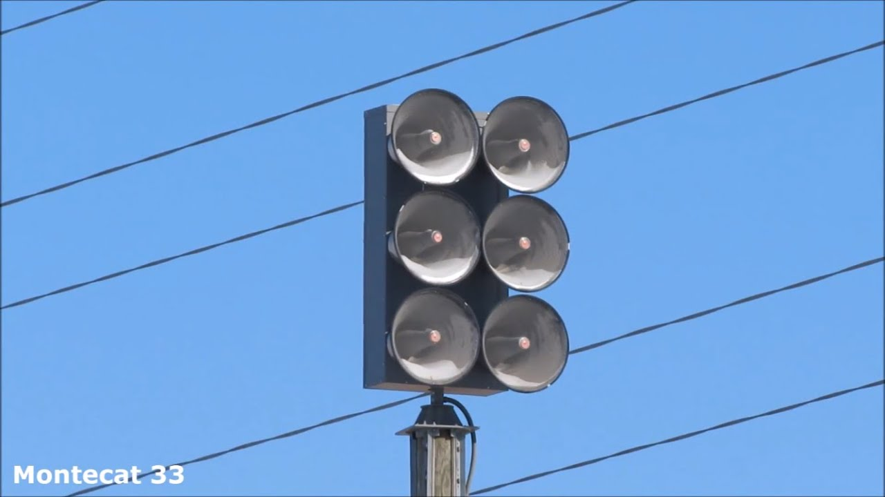Federal Signal Eows 612 Siren Test Alert And Wail Round