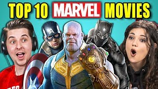 Baixar COLLEGE KIDS REACT TO TOP 10 MARVEL MOVIES OF ALL TIME