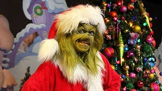 Hilarious Meet & Greet with The Grinch in Seuss Landing, Universal Orlando Christmas 2017