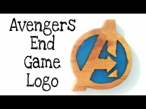 How to make Avengers End Game Logo from epoxy resin and wood art | resinart | craft