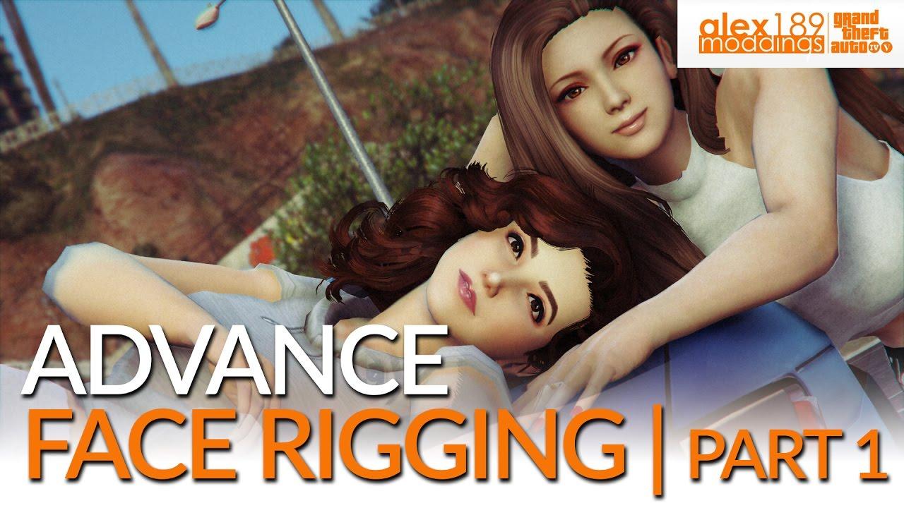 Zmodeler 3 - Advanced Face Rigging Tutorial (GTA V Ped)   Part 1
