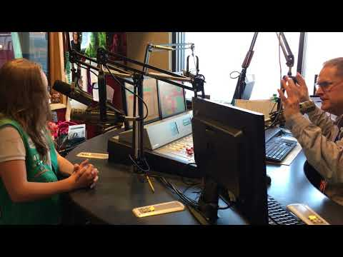 Media Star Bella K. talks with local radio host about the Girl Scout Cookie Program