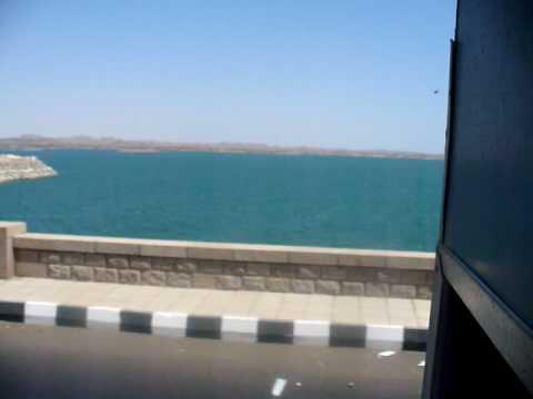 Aswan high dam and lake Nasr