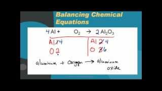Balancing chemical equations: Aluminum oxide(Review balancing equations by watching an example involving aluminum oxide., 2013-04-03T20:18:15.000Z)