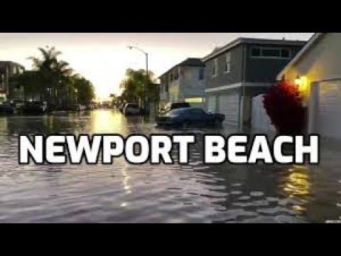 Surf, High Tides Flood Newport Beach in CA - Fire Engineering
