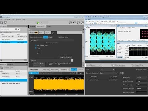 SourceXpress Software Demo for the Tektronix AWG70000 Arbitrary Waveform  Generator
