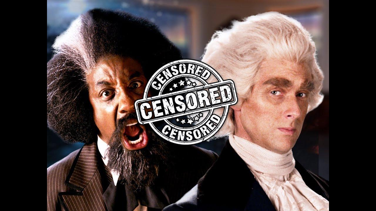 censored frederick douglass vs thomas jefferson epic rap battles