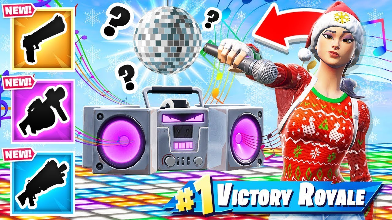Random New Boombox Loot Dropper Game Mode In Fortnite Battle