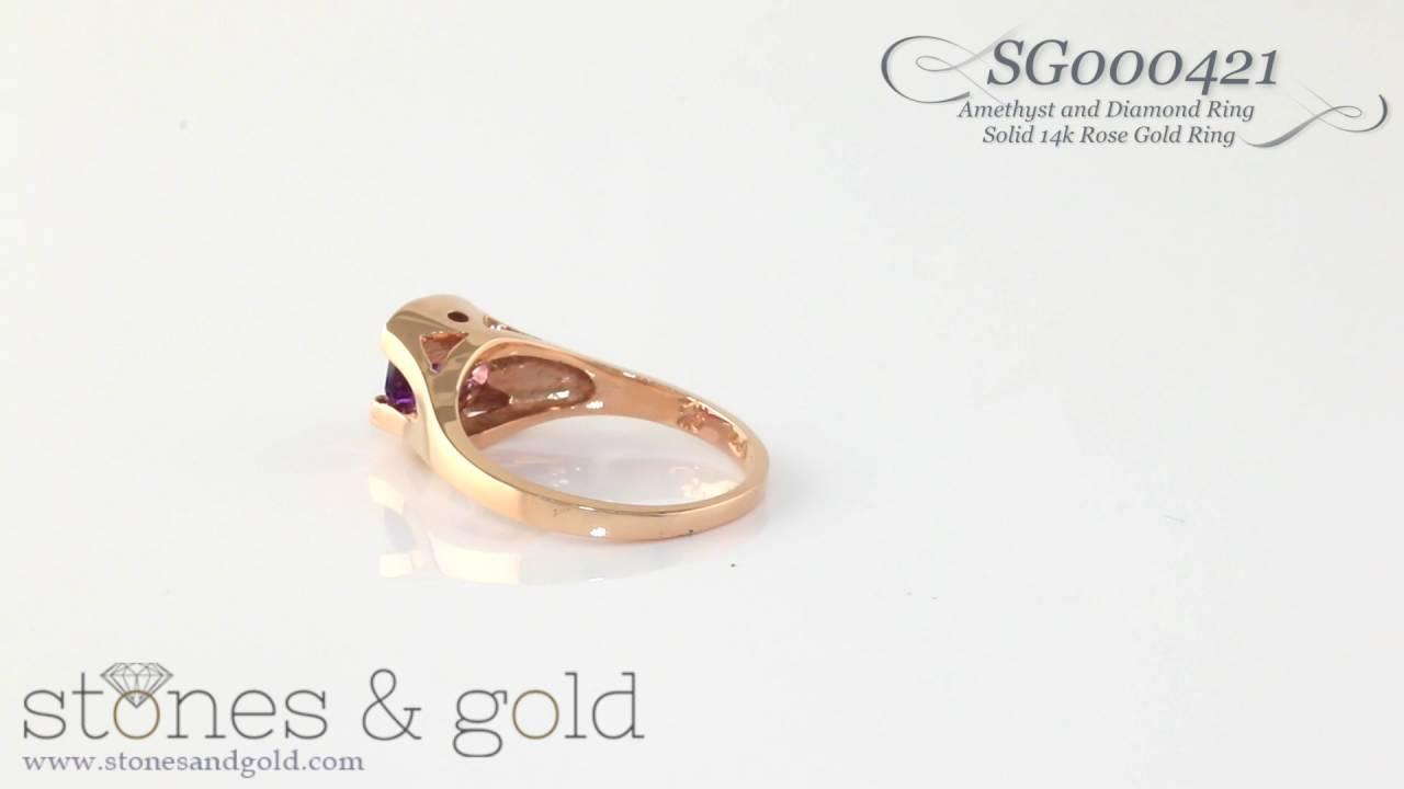 Jewelry Adviser Rings 14k White Gold 7x5mm Oval Rhodolite Garnet ring