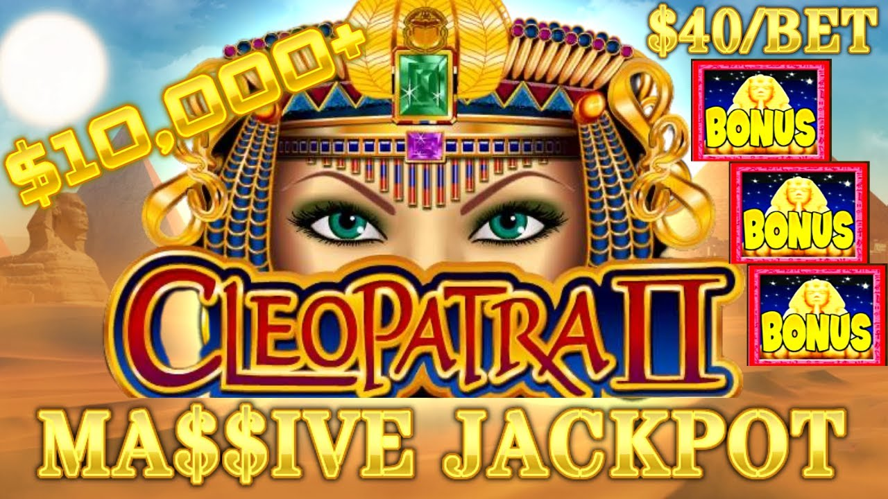 HIGH LIMIT Cleopatra Ⅱ MASSIVE HANDPAY JACKPOT OVER $10K  ⭐️$40 BET BONUS Cleo 2 Slot Machine Casino