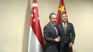 Chinese Foreign Minister in Singapore for ASEAN foreign ministers' meetings