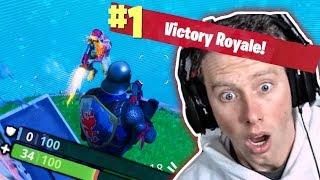 FALLING SHOTGUN SHOT VICTORY ROYALE! (Fortnite)