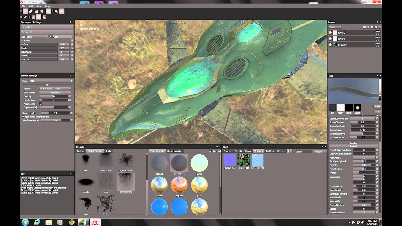 how to add existing texture maps substance painter