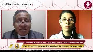 Tema: Se instaló Comité Electoral Universitario 2020 - 2021