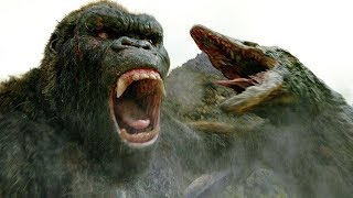 Kong vs Skull Crawler - Fight Scene - Kong: Skull Island (2017) Movie Clip HD
