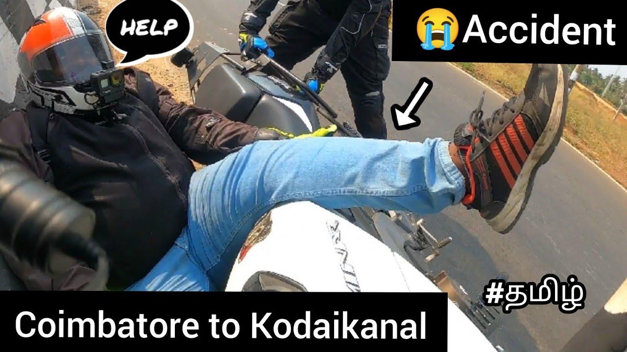 Download 😭Again Accident  😓Coimbatore to Kodaikanal   part - 01   Tamil   motovlog   dominar 400  accident  