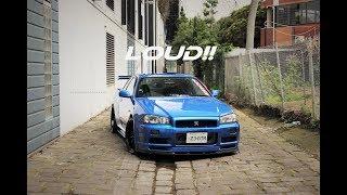 R34 GTR / Fast Ride / LOUD POPS & CRACKS / Tunnels