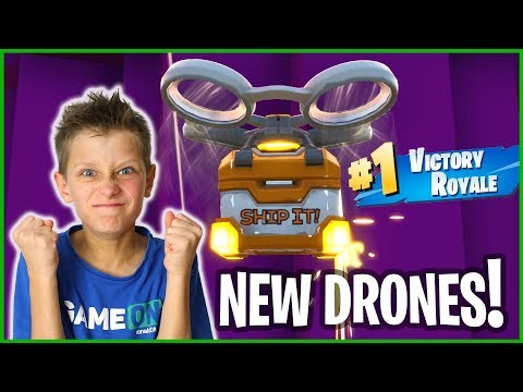 WINNING WITH THE NEW FORTNITE DRONES!!!
