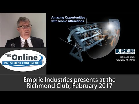 Empire Industries Investor Presentation February 2018 Richmond Club