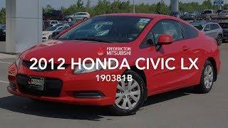 **SOLD** 2012 HONDA CIVIC LX - 190381B