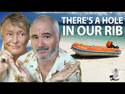 How To Repair an Inflatable Dinghy Boat - Sailing and sailboats Ep 255