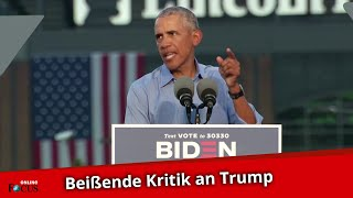 Barack Obama kritisiert Donald Trump: