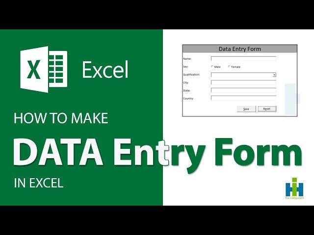 How to Make Complete Data Entry Form in Excel | Excel Tutorial