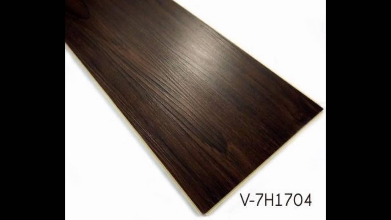 Thick Wooden Wpc Vinyl Click Flooring Plank Tiles