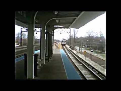 CTA Green Line trains in action (06-29-15)
