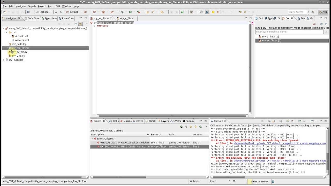 DVT Build Configurations Compatibility Modes - Part I - DVT Default  Compatibility Mode