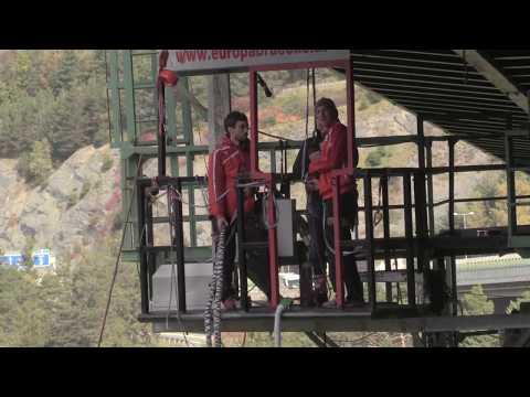 Bungy Jump Austria Tirol Stubaital Europabrücke 192m Sep 30 2017 HD