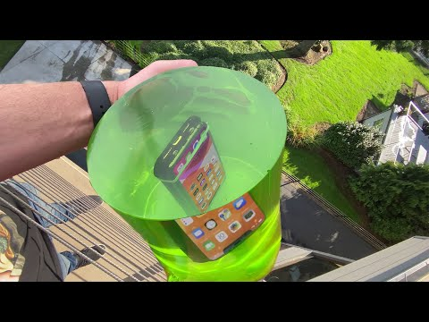Can World's STRONGEST JELLO Protect iPhone 11 Pro from 50 FT Drop Test?